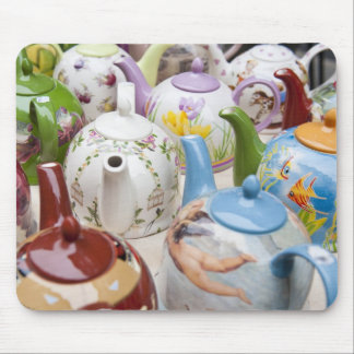 Teapots on sale in Leipzig, Germany Mouse Pad