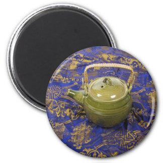 TeapotSilkScarf081210 2 Inch Round Magnet
