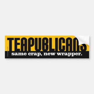 Teapublicans - la misma mierda, nueva envoltura pegatina para auto