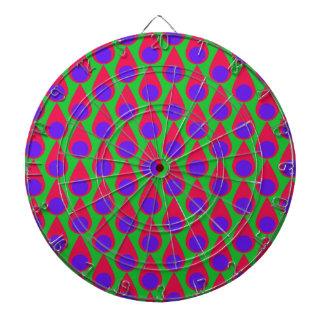 Tear drop and Polka Dot Seamless Pattern Dart Boards