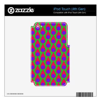 Tear drop and Polka Dot Seamless Pattern iPod Touch 4G Decal