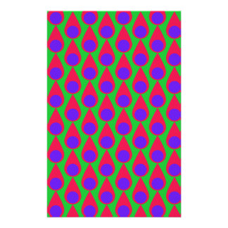Tear drop and Polka Dot Seamless Pattern Customized Stationery