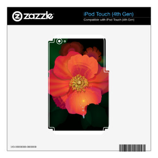 Tear Drop Flower Decals For iPod Touch 4G