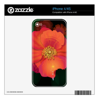 Tear Drop Flower Decals For The iPhone 4S