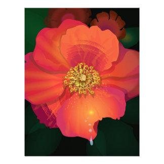 Tear Drop Flower Letterhead