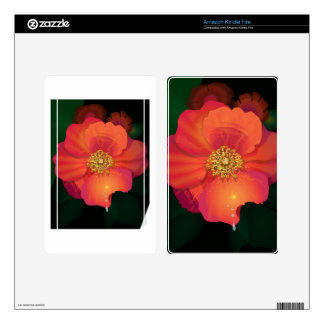 Tear Drop Flower Decal For Kindle Fire