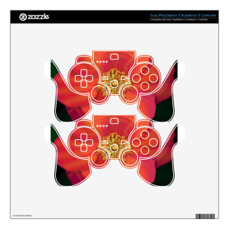 Tear Drop Flower PS3 Controller Skins
