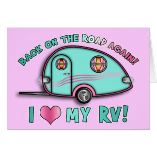 Tear Drop RV Trailer GREETING & NOTE CARDS