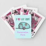 Tear Drop RV Trailer Playing Cards