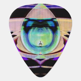 Tear Drop Scifi Abstract Guitar Pick