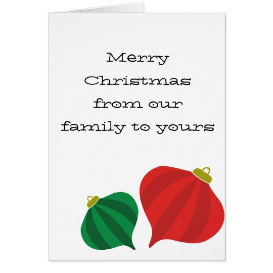 Tear Drop Striped Ornament Card