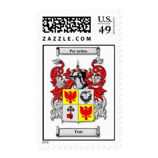 Tear Family Crest Stamp