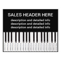 Tear-Off Advertising Flyer Personalized Keyboard
