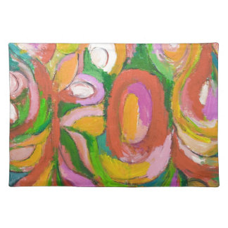 Teardrop Abstract Flowers (abstract expressionism) Placemat