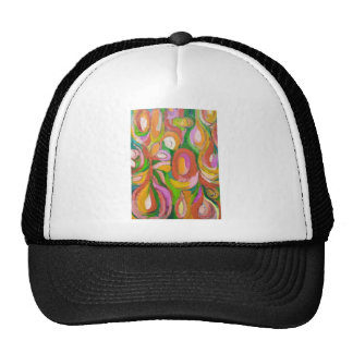 Teardrop Abstract Flowers (abstract expressionism) Trucker Hat