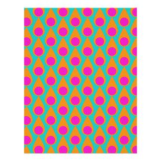 Teardrop and Polka Dot Seamless Pattern Letterhead