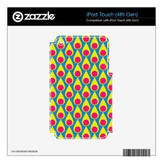 Teardrop and Polka Dot Seamless Pattern iPod Touch 4G Skin