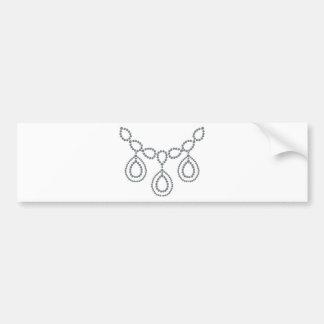 Teardrop Diamond Necklace Bumper Sticker