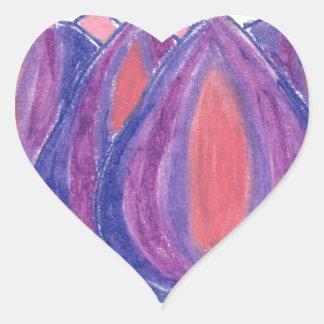 teardrop flower heart sticker
