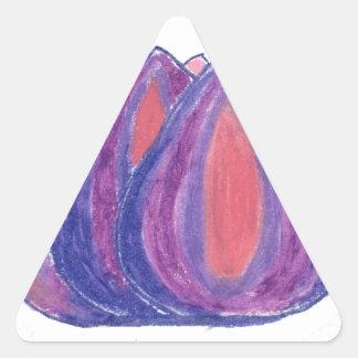 teardrop flower triangle sticker