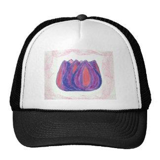 teardrop flower trucker hat