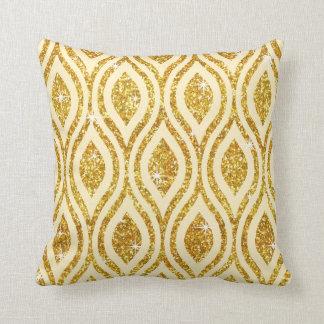Teardrop Geometric Glitter CHOOSE BACKGROUND COLOR Throw Pillow