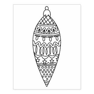 Teardrop Ornament Rubber Stamp