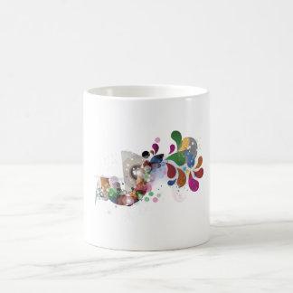 teardrop pattern coffee mug