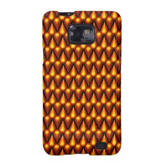Teardrop Pattern in Gold Galaxy S2 Case