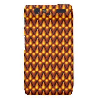 Teardrop Pattern in Gold Motorola Droid RAZR Covers