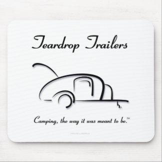 Teardrop Trailers Black Version Mousepads
