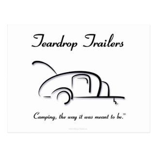 Teardrop Trailers Black Version Postcard