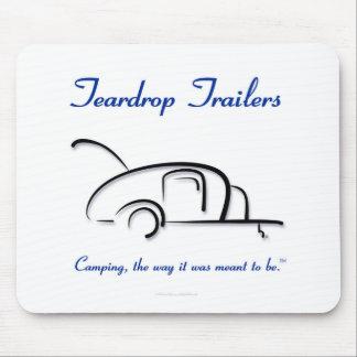 Teardrop Trailers Blue Version Mouse Pad