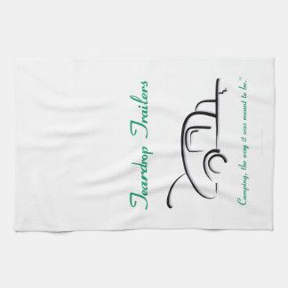 Teardrop Trailers Green Version Kitchen Towel