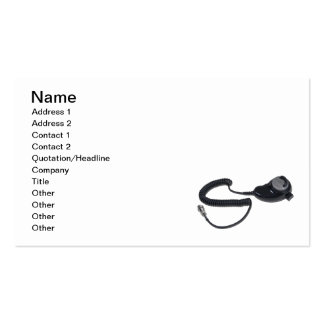 TeardropMicrophoneCable020511, Name, Address 1,... Business Card Template