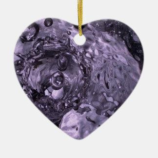 teardrops lilac clock.jpg ceramic ornament