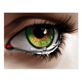 Tearful Eye Illustration Postcard