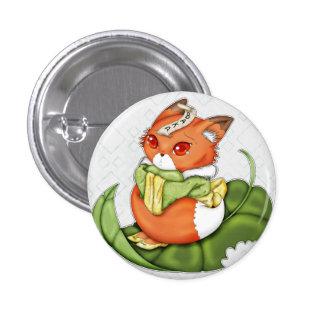 Tearful Japanese Chibi Kitsune Pinback Buttons