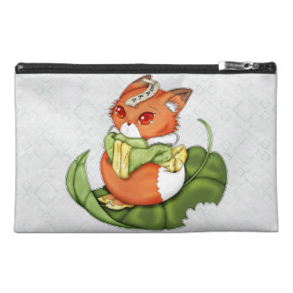 Tearful Japanese Chibi Kitsune Travel Accessories Bag