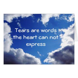 Tears Card