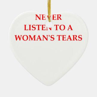 TEARS CERAMIC ORNAMENT