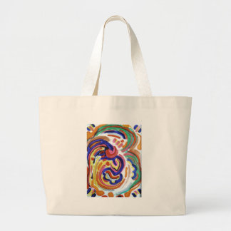 tears of a clown large tote bag