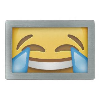 Tears of Joy emoji funny Rectangular Belt Buckle