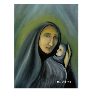 Tears Of Joy Mary & Infant Jesus Postcard