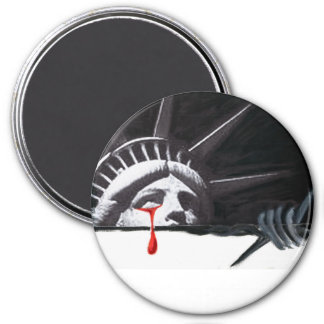 Tears of Liberty 3 Inch Round Magnet
