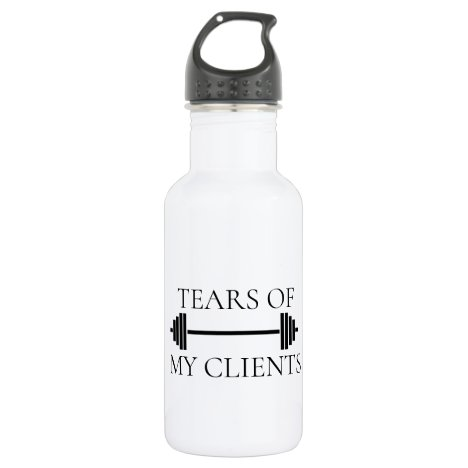 Tears of my Clients Personal Trainer Funny Stainless Steel Water Bottle