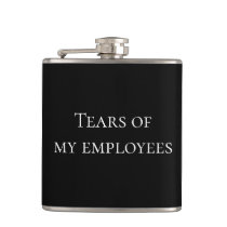 Tears of My Employees HR Boss Funny Flask