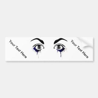 Tears On The Eyes Bumper Sticker