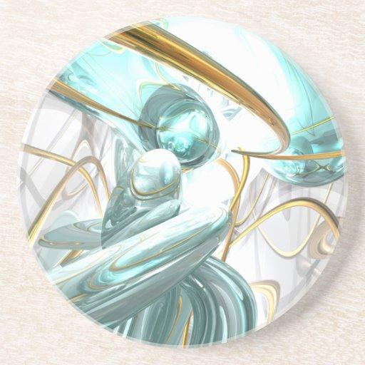 Teary Dreams Abstract Coaster