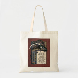 """Teasdale """"Thoughts"""" Victorian Tote Bag"""